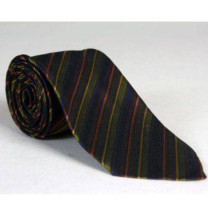 Vintage 60s Christian Dior Stripe ALL Silk Necktie